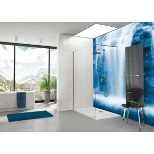 Paroi fixe douche ouverte AÉRIA pour montage en angle