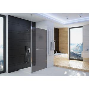 Paroi douche ouverte ALTUS en angle avec stabilisations en position de fixation plafond