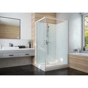 IZI GLASS 2 cabine de douche complète avec portes coulissantes accès d'angle