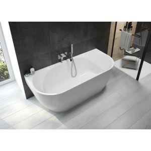 SELENA baignoire acrylique monobloc pour milieu de mur