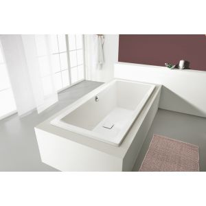 Baignoire rectangulaire SPACE LINE vidage central