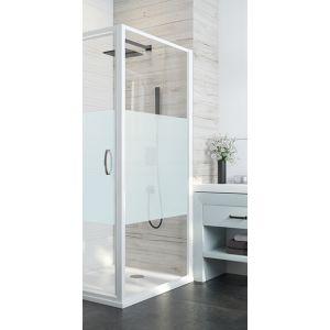 ATOUT 3 Paroi fixe douche fermée pour montage à 90° avec porte