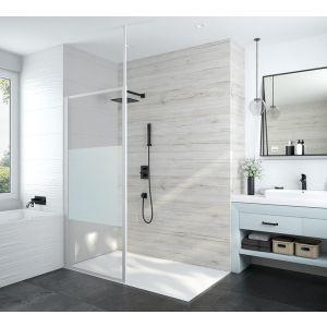 ATOUT 3 Paroi fixe douche ouverte avec barre de stabilisation fixation murale ou plafond