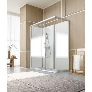 cabine de douche BIEN-ETRE version AVANTAGE vitrage dépoli dégradé