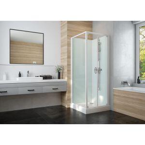 IZI GLASS 2 cabine avec portes battantes accès de face installation en angle ou en milieu de mur
