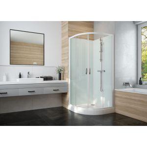 IZI GLASS 2 cabine de douche 1/4 de rond complète avec portes coulissantes