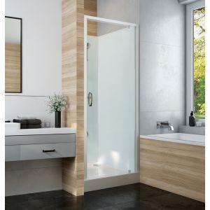 IZI GLASS 2 cabine avec porte pivotante accès de face installation en niche