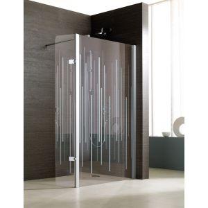 JAZZ+ Panneau mobile pour montage avec paroi fixe douche ouverte
