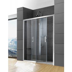 JAZZ+ Porte coulissante 2 vantaux sans seuil (1 fixe+1 mobile) réversible