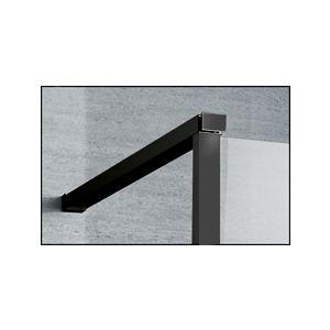 Barre de stabilisation murale avec patère réctractable / Noir mat
