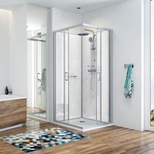 KARA cabine de douche intégrale avec receveur en béton minéral