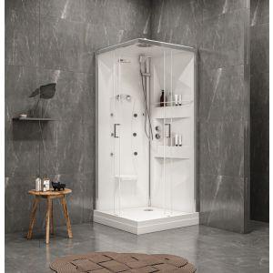 cabine de douche avec hydromassage ODYSSÉE 2 / carrée