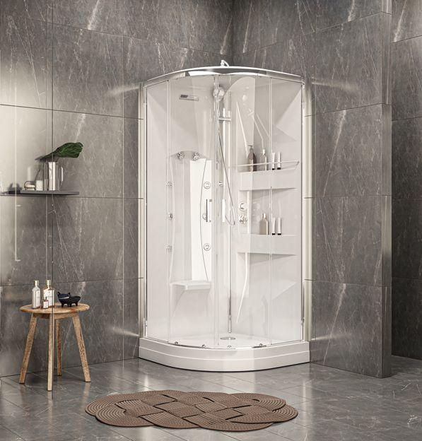 cabine de douche avec hydromassage ODYSSÉE 2 / 1/4 de rond