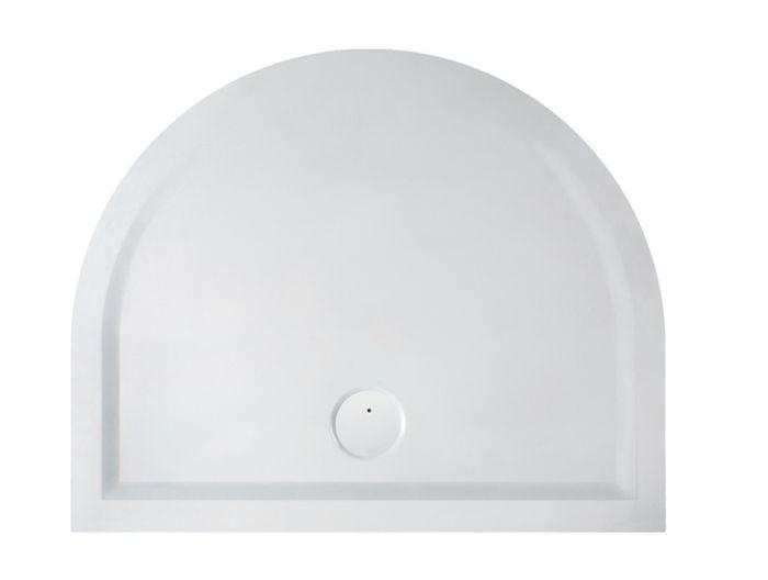 Receveur en béton minéral forme demi-lune pour installation en milieu de mur