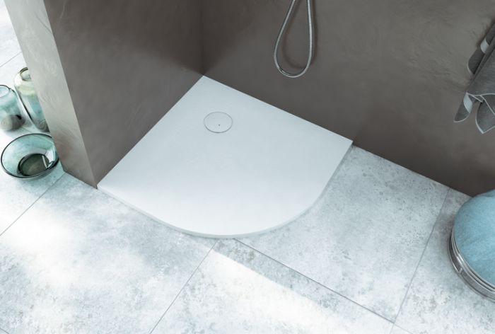 Receveur ajustable YAGO en béton minéral couleur blanc