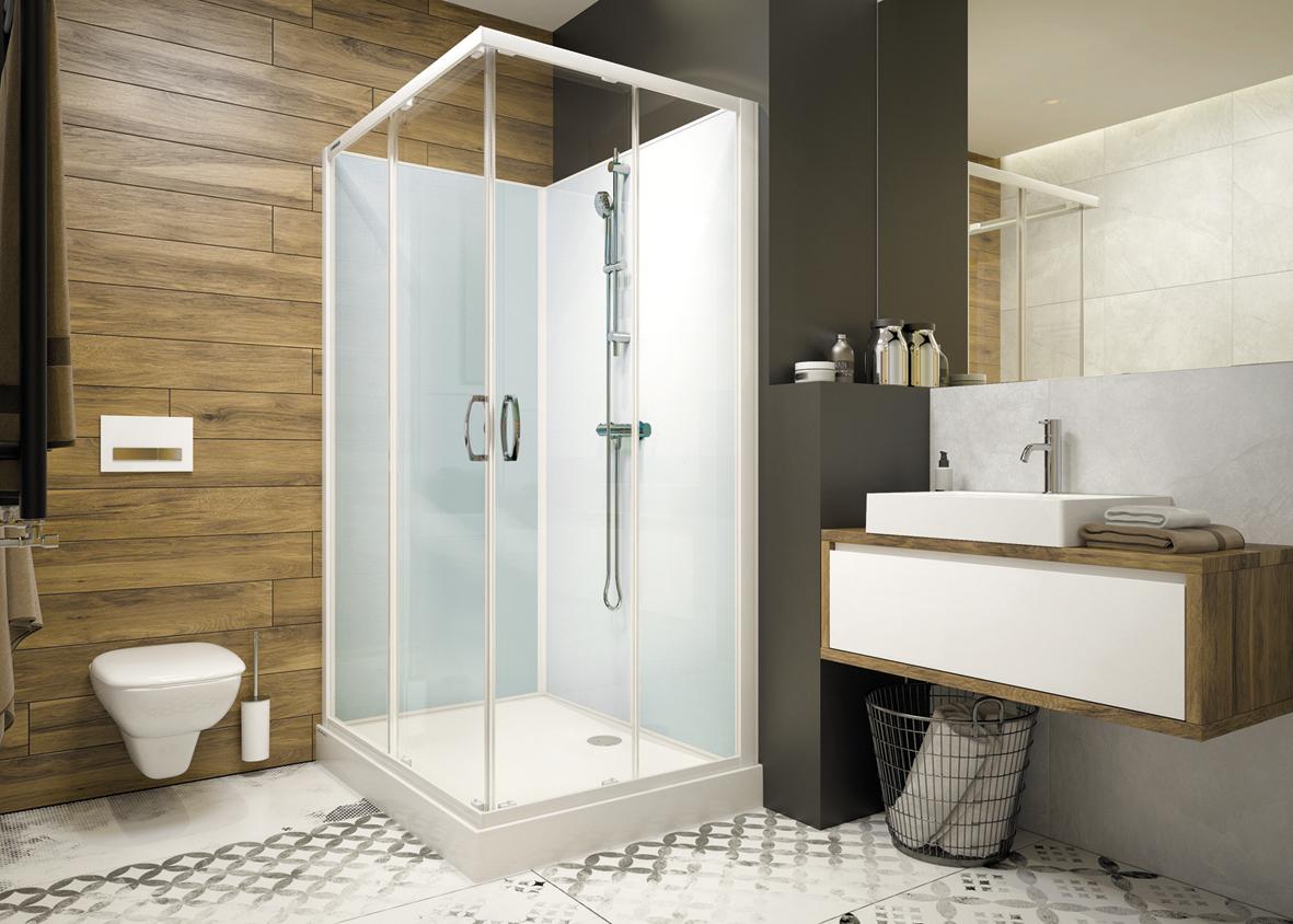 La cabine de douche en 3 points