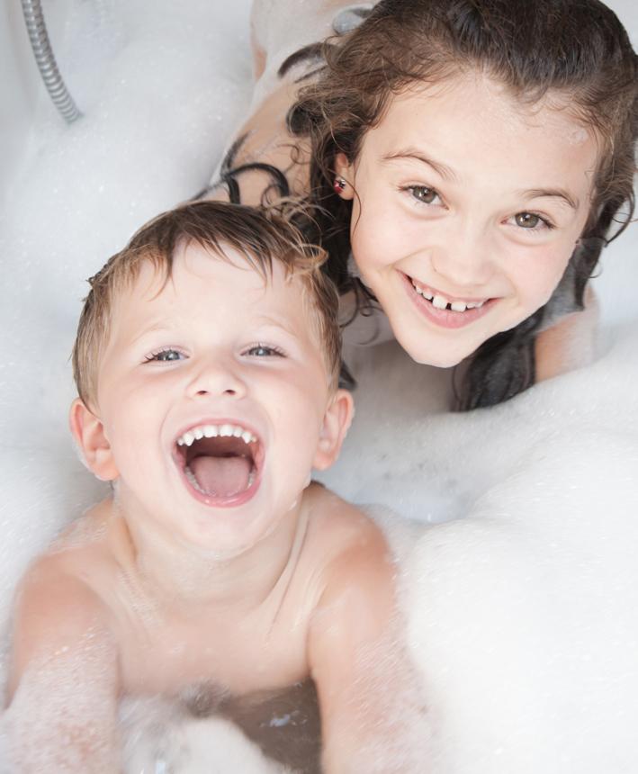 Une salle de bain sécurisée pour les enfants
